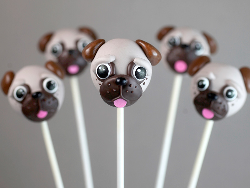 Chocolate Baby Dog And Cat Cake Pops