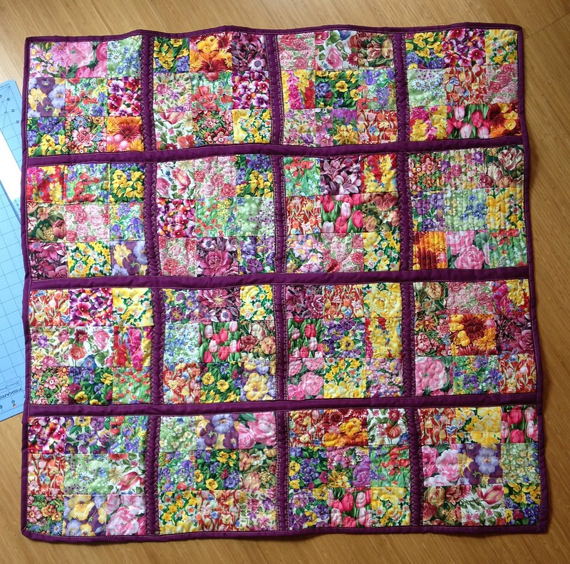 Flowery Patchwork Quilt