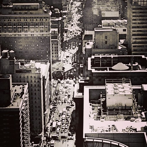 They call this the #AvenueOfTheAmericas.  #myny #mynyc #myNewYork #NewYorkCity #NewYork #manhattan #SixthAvenue #blackandwhite #midtown #streetscene