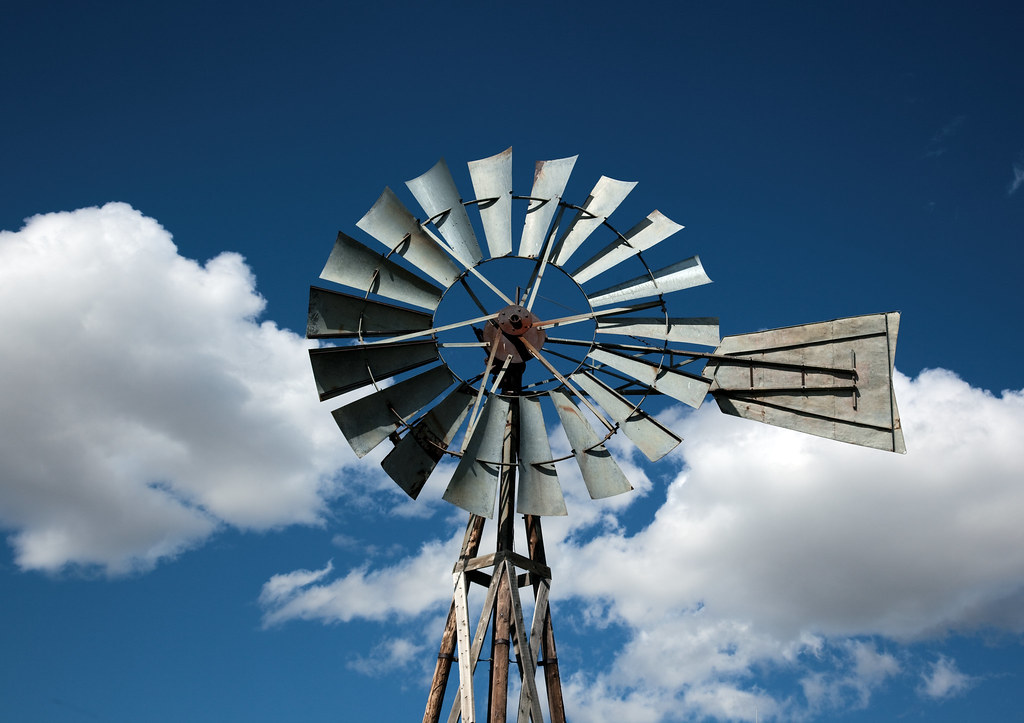 Highsmith, Carol M, photographer. Windmill detail, 1880 Town, Murdo, South Dakota. 2009.