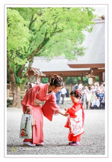 熱田神宮 名古屋市 七五三ロケーション写真撮影 着物 和装 フォトスタジオ・写真館 データ納品 女の子 出張撮影