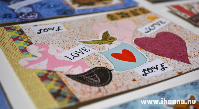 DIY Postcard Bird and Heart
