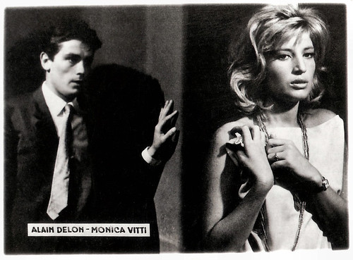 Monica Vitti and Alain Delon in L'eclisse, 1962