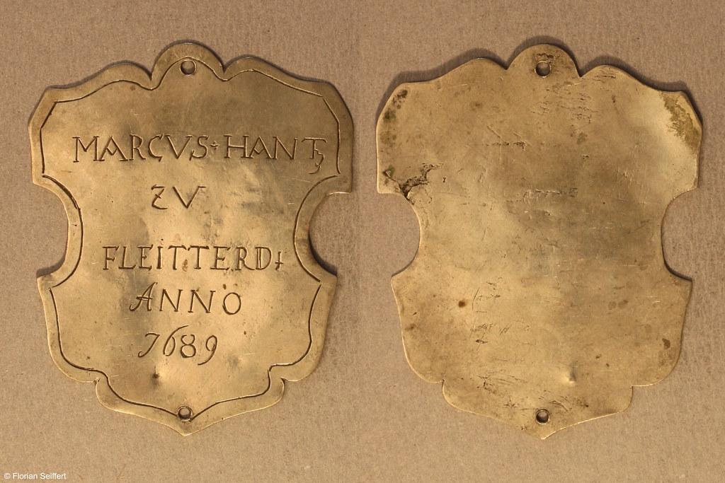 Koenigsschild Flittard von hantz marcus aus dem Jahr 1689