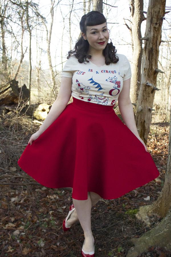 red circle skirt
