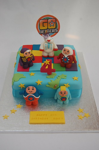 A new one on us, but already taking off in a big way amongst pre-schoolers everywhere! The Go-Jetters Cake - from £80.