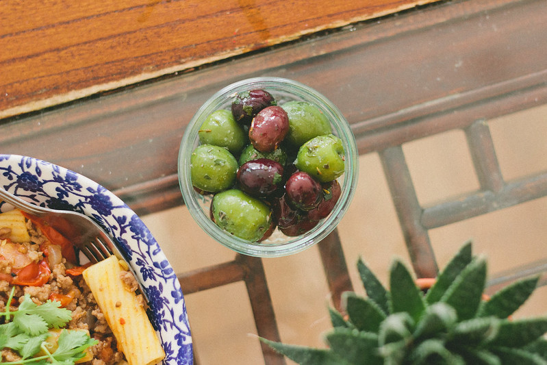 {north african pasta with orange-oregano marinated olives} via chevrons & éclairs