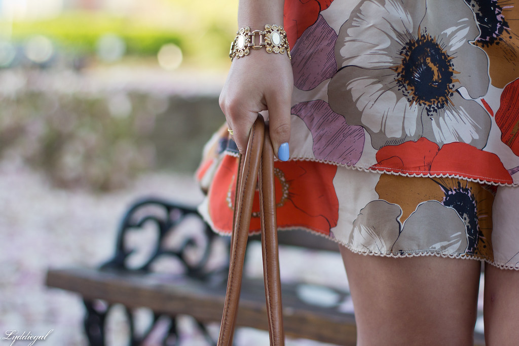 orange floral skirt, cream beaded top, leather tote-9.jpg