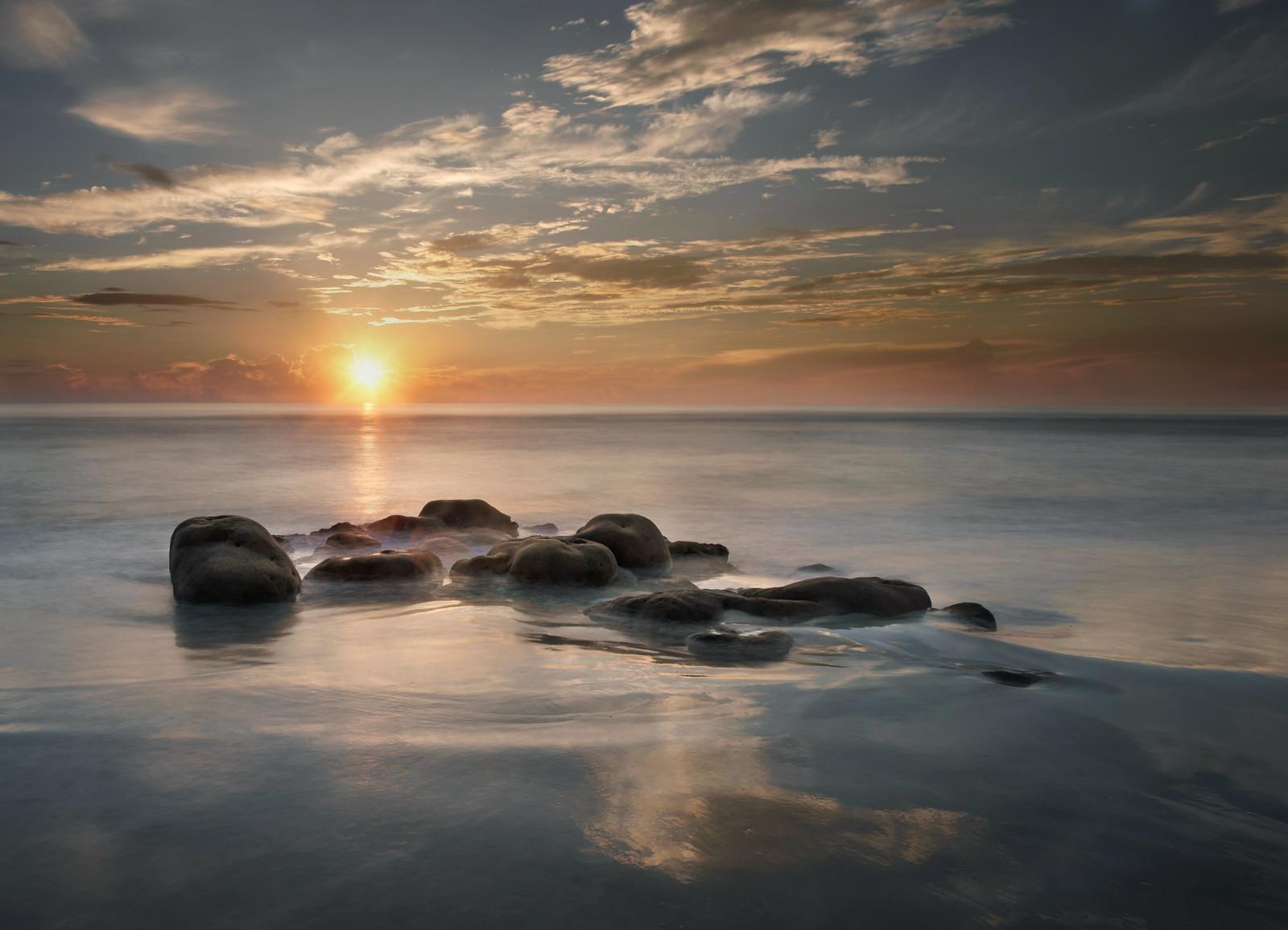 Peaceful morning at the Sabellariid worm reef, Satellite Beach, Florida, USA. [1600 x 1154] [OC]