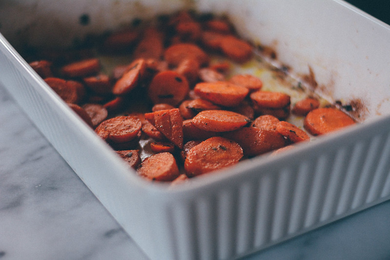 roasted carrots with cumin + tarragon