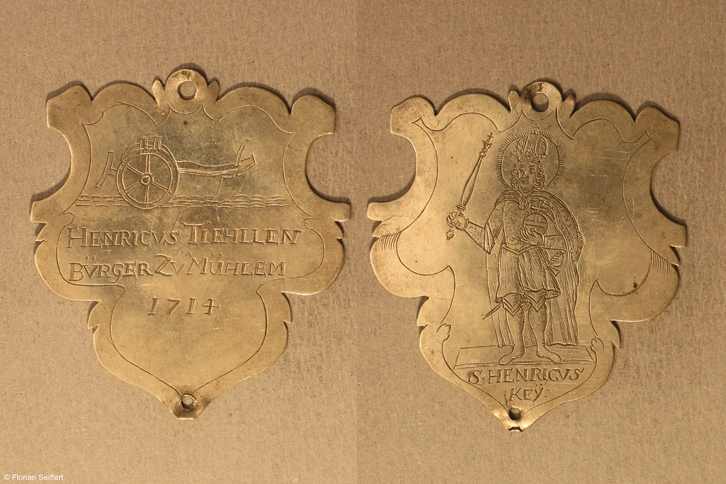 Koenigsschild Flittard von tiehllen henricvs aus dem Jahr 1714