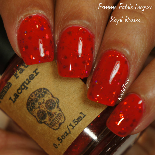 NailaDay: Femme Fatale Lacquer Royal Rubies
