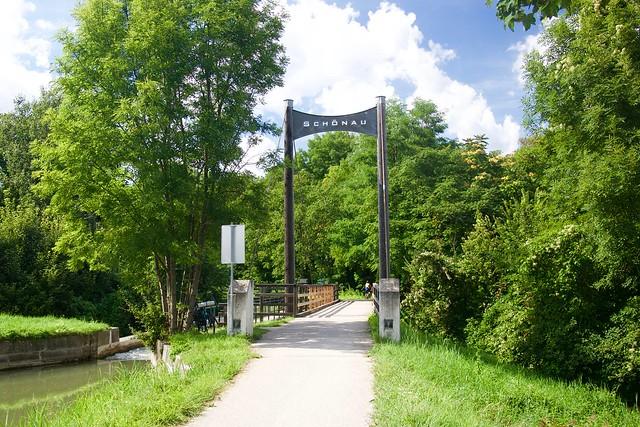 Most dla rowerów na trasie Eurovelo 8 w Austrii