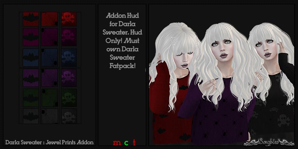 ~SongBird~ Darla Sweater : Jewel : Prints Addon