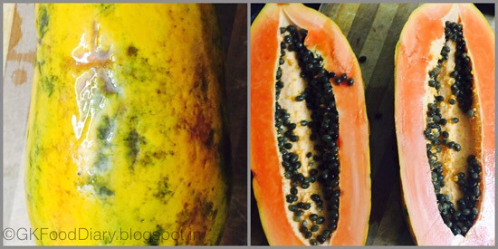 Papaya Puree - step 1