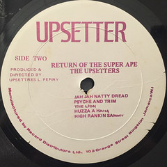 THE UPSETTERS:THE RETURN OF THE SUPER APE(LABEL SIDE-B)