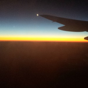 The sun coming up as we approached New Zealand.