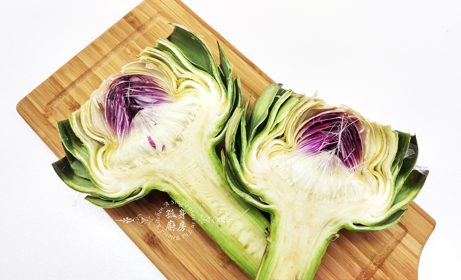 孤身廚房-青醬帕瑪森起司鑲烤朝鮮薊佐簡易油醋蘿蔓沙拉4