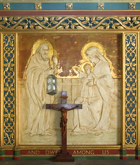 And Dwelt Among Us: reredos, Sir Charles Nicholson, 1920
