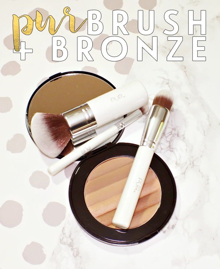 pur brush + bronze
