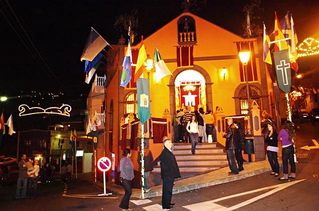 Ermita, Fuegos del Mayo, Fireworks, Los Realejos, Tenerife
