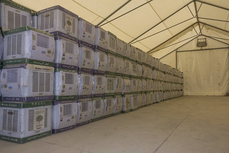 Air coolers for Khanke camp