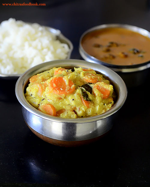 South Indian carrot kootu recipe