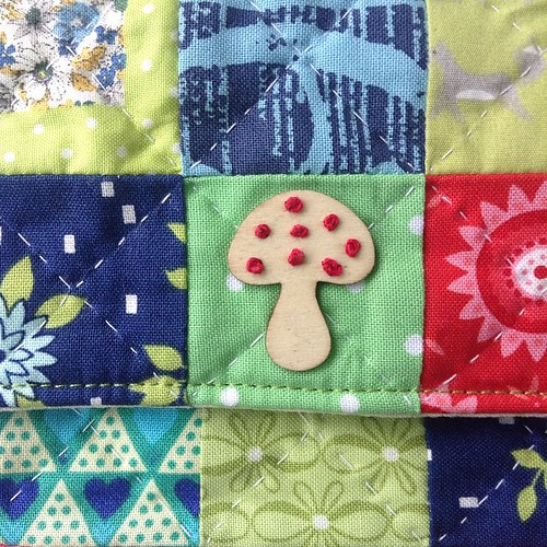 All inspired by this little wooden toadstool #🍄handmade #lechallenge #colonialknots #embroidery