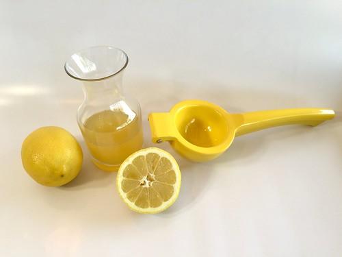 lemons and juice