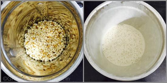 Idli dosa using mixie -step 1