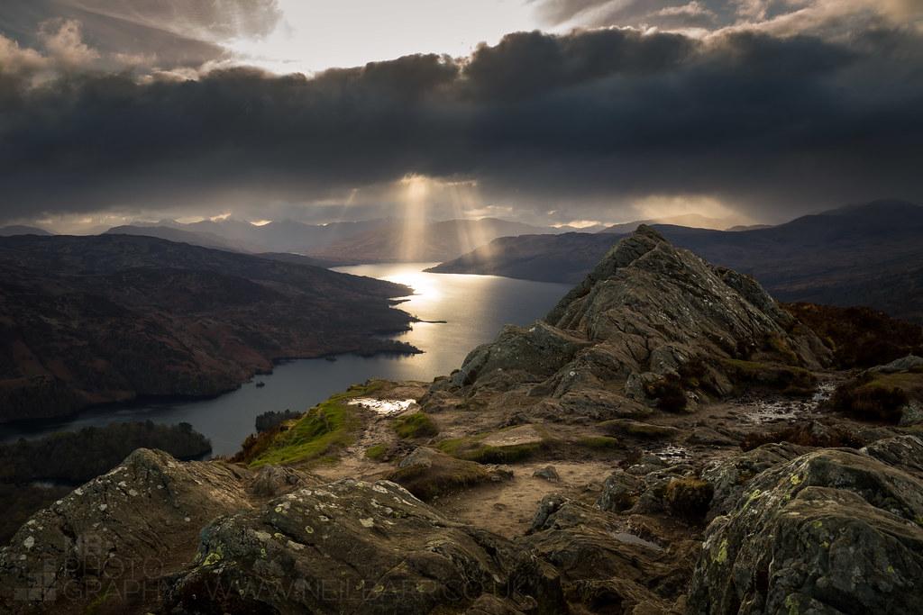 Ben A'an and Loch Katrine   Loch Katrine from Ben A'an ...