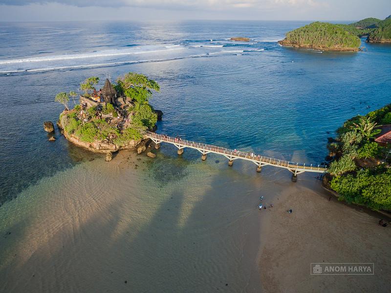 Aerial Photo Pantai Balekambang