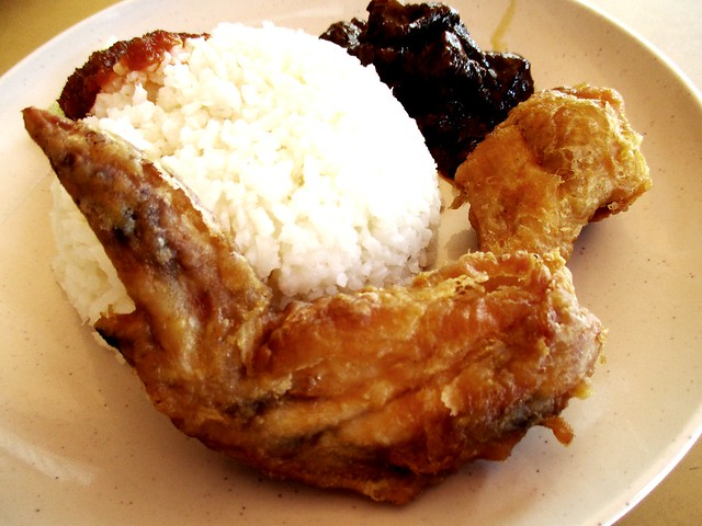 Fast Cafe nasi lemak special, fried chicken