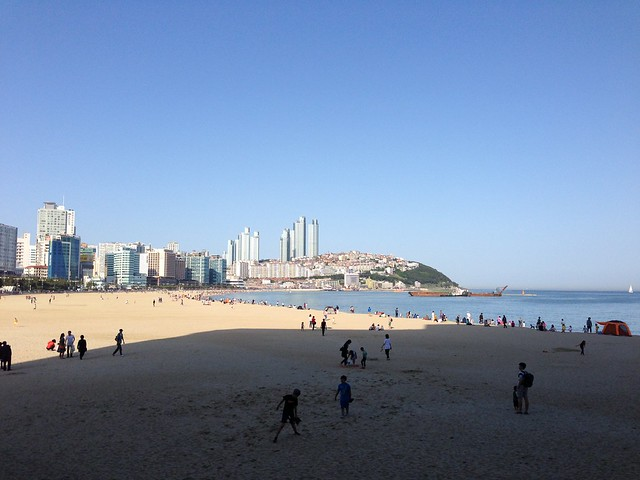 Sunny views of Haeundae Beach