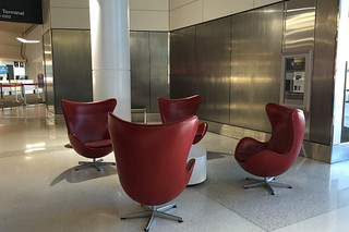SFO Terminal 2 - Red chairs
