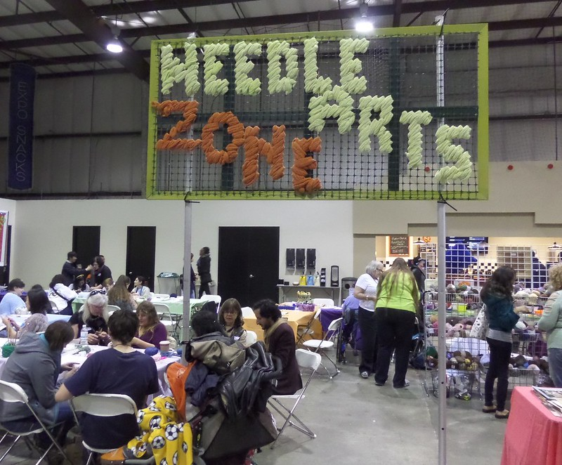 Needle Arts Zone Sign