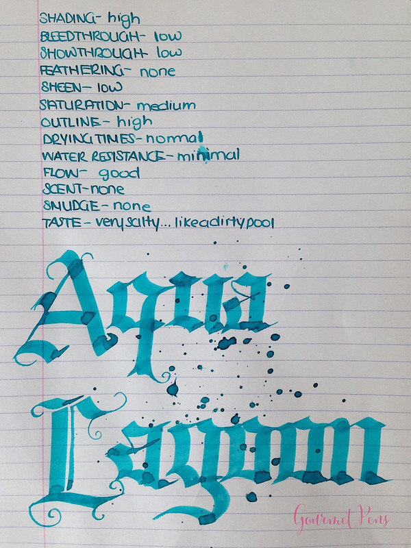 Ink Shot Review Diamine Aqua Lagoon @CouronneDuComte (6)
