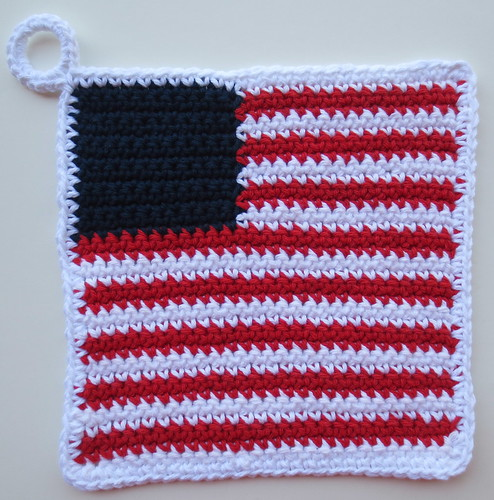 Patriotic Flag Potholder