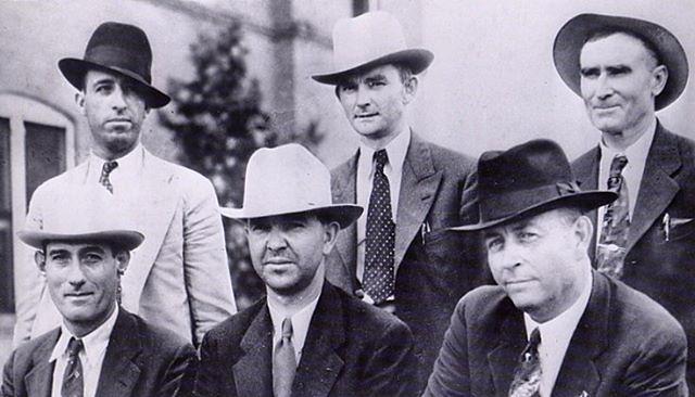 "Towed Car Finder >> Texas Officers Frank Hamer, B.M. ""Manny"" Gault, Bob Alcorn ..."