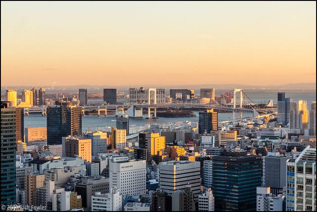 Rainbow Bridge, Odaiba and the Bay from Tokyo Tower