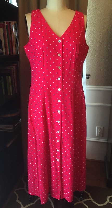 Pink Polka Dot Dress - Before