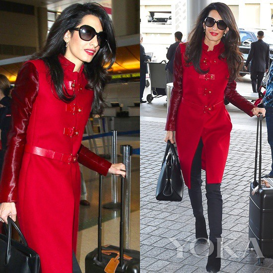 Local time on January 26, 2015, La, Amal Clooney appeared at the airport