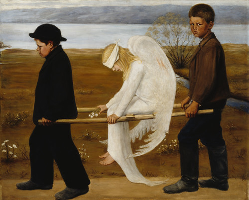 Hugo Simberg (1873–1917): The Wounded Angel / Haavoittunut enkeli