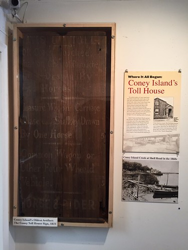 1823 Toll House Sign, Coney Island's Oldest Artifact, on View at Coney Island History Project