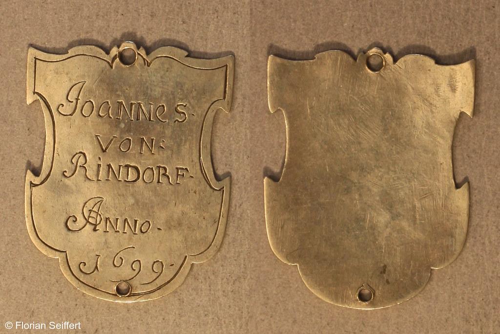 Koenigsschild Flittard von rindorf von joannes aus dem Jahr 1699