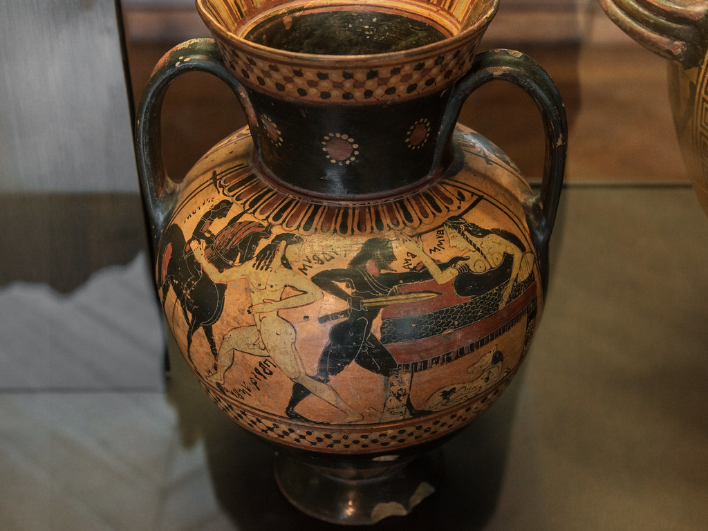 corinthian pottery xiv lc amphora affaire in thebes