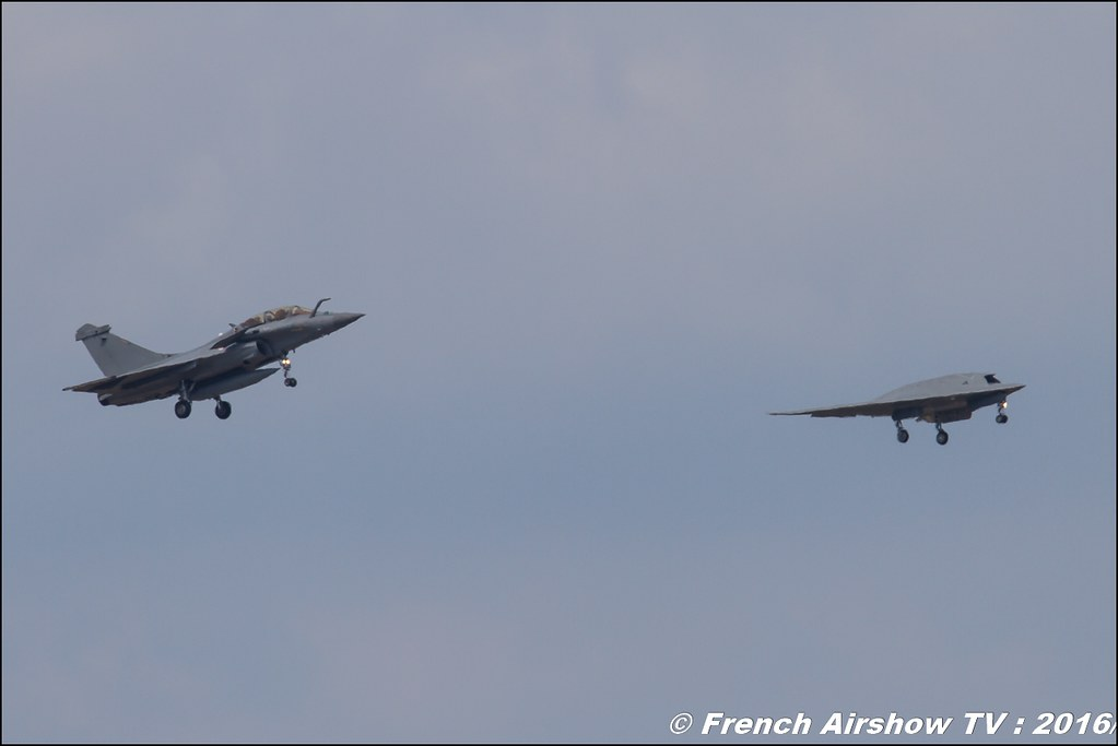 Dassault Aviation , Neuron , Rafale B , Falcon 8X , Meeting de l'air BA-125 Istres 2016 , Meeting Aerien 2016