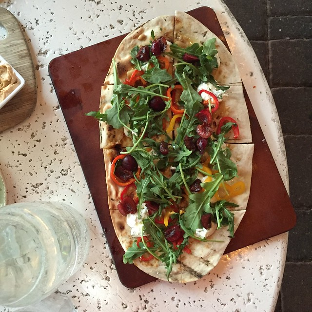 Cherry ricotta flatbread at The Good Earth