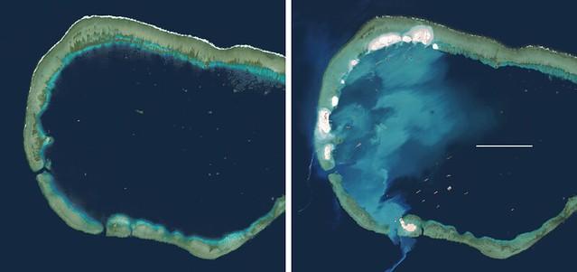 中國填海造島的一個例子。攝影:溫國彰。