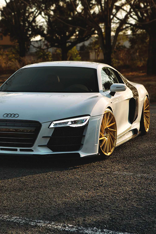 Audi R8 With Gold Rims Estevan Tafoya Flickr